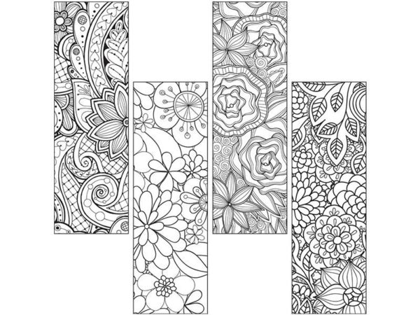 Colour Craze Floral Bookmarks