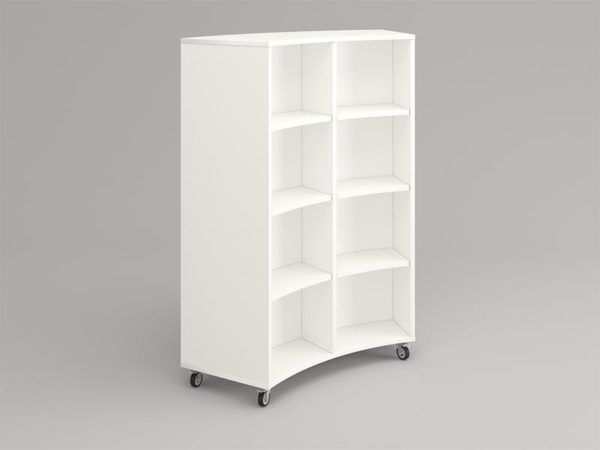 Arc Curved Shelving 4 Tier Fiction