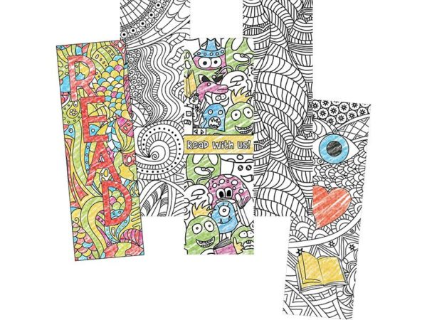 Colour Craze Colouring Bookmarks