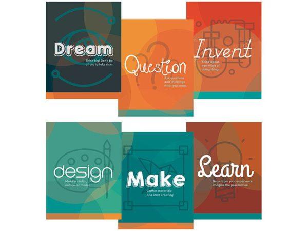 Makerspace Etiquette Mini Poster Set