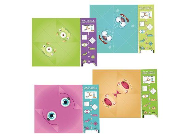 Origami Corner Monster Bookmarks